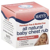 Maty's Petroleum & Menthol Free All Natural Baby Chest Rub