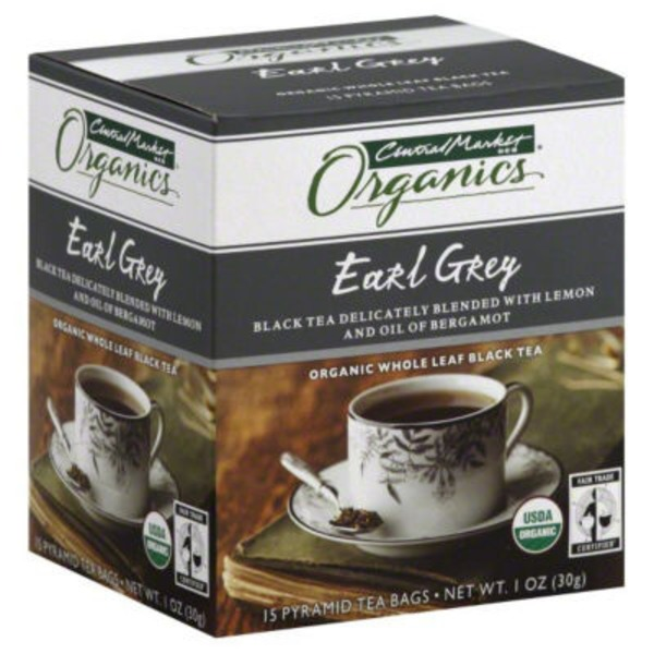 Central Market Organic Whole Leaf Black Earl Grey Tea Bags
