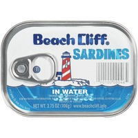 Beach Cliff In Water Sardines