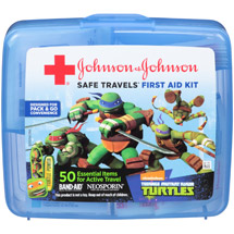 Johnson & Johnson Safe Travels Teenage Mutant Ninja Turtles First Aid Kit Case