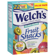 Welch's Island Fruits Fat Free 80 Calorie Fruit Snacks Pouches