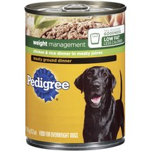 Pedigree Weight Management Meaty Ground Chicken & Rice Dinner Dog Food