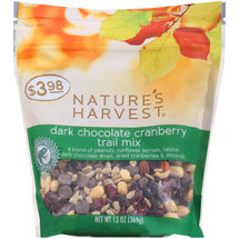Nature's Harvest Dark Chocolate Cranberry Trail Mix