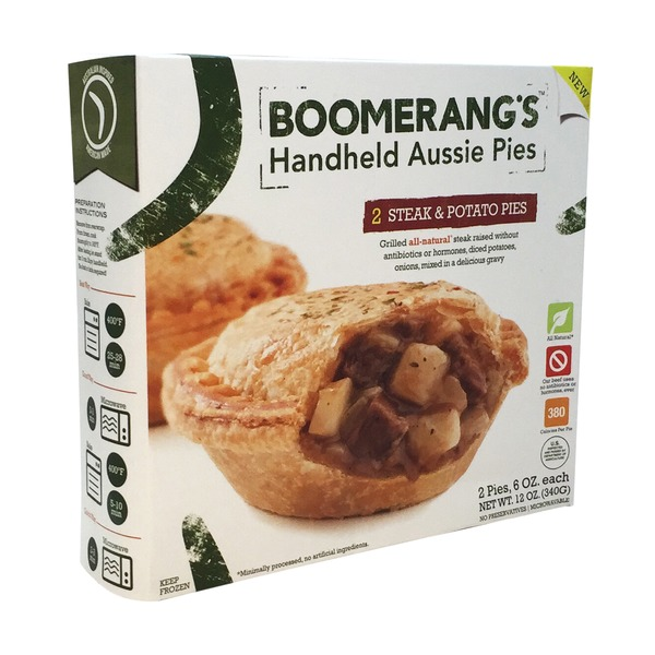 Boomerang's Aussie Pies, Handheld, Stout Steak & Potato