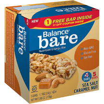 Balance Bare Sea Salt Caramel Nut Nutrition Energy Bars