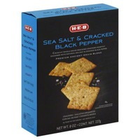 H-E-B Sea Salt And Cracked Black Pepper Crackers