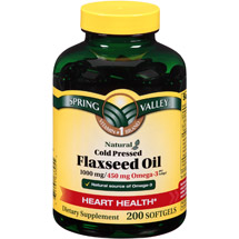 Spring Valley Natural Cold Pressed Flaxseed Oil Softgels