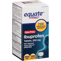 Equate Dye-Free Ibuprofen Tablets