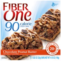 Fiber One 90 Calorie Chocolate Peanut Butter Chewy Bars