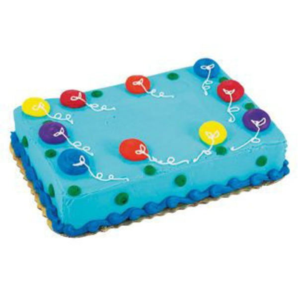 Balloon Party Cake 1/2 Sheet Cake