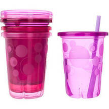 The First Years Take & Toss Pink Straw Cups