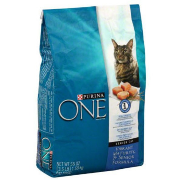 Purina One Cat Dry Adult Vibrant Maturity 7+ Cat Food