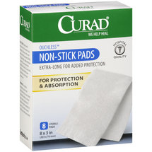 Curad Ouchless Non-Stick Sterile Pads