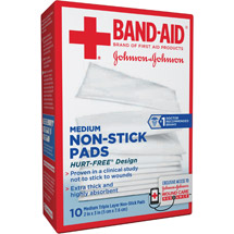 Band-Aid Triple Layer Non-Stick Pads Medium