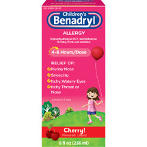 Children's Benadryl Cherry Flavored Allergy Syrup