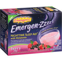 Emergen-C Emergen-Zzzz Nighttime Sleep Aid Berry PM Dietary Supplement Drink Mix