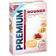 Nabisco Premium Rounds Rosemary & Olive Oil Saltine Crackers