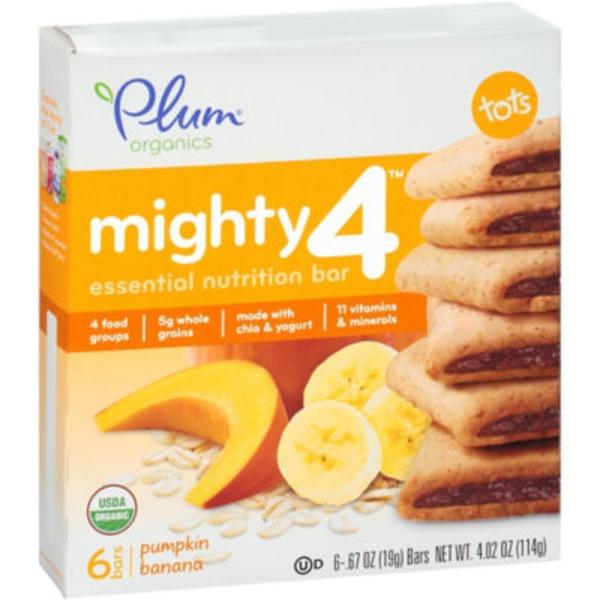 Plum Organics Pumpkin Banana Might Snack Bars