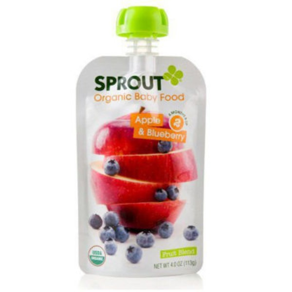 Sprouts Organic Baby Food Apple & Blueberry