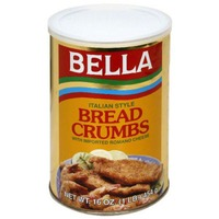 Bellas Bread Crumbs, Italian Style, with Imported Romano Cheese