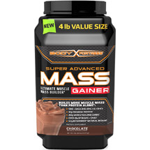 Body Fortress Super Advanced Mass Gainer Protein Supplement Chocolate Powder