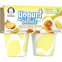 Gerber Graduates Carrot Peach Mango Yogurt Blends Snack
