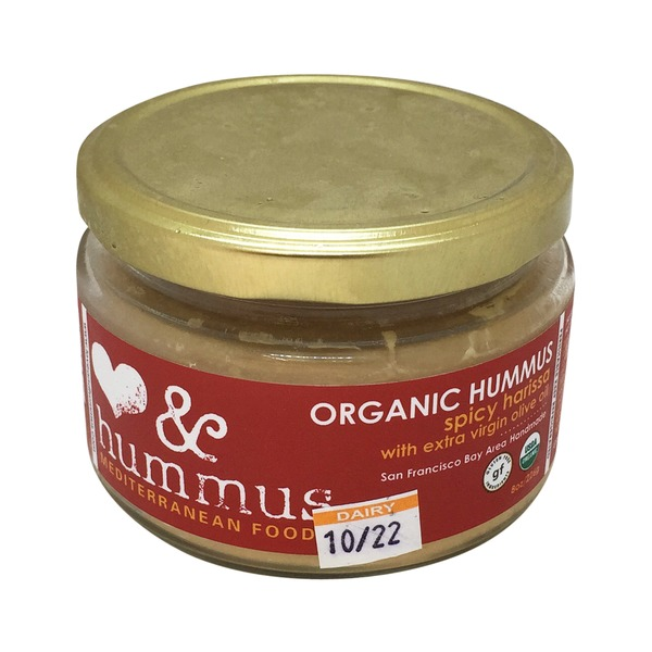 Love And Hummus Co Organic Spicy Harissa Hummus