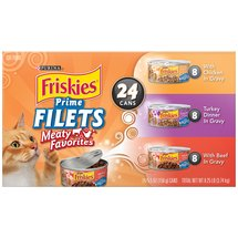 Friskies Prime Filets Meaty Variety Pack Purina Canned Cat Food