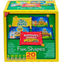 Fun Shapes Variety Pack Lorna Doone/Teddy Grahams/Barnum's Animals