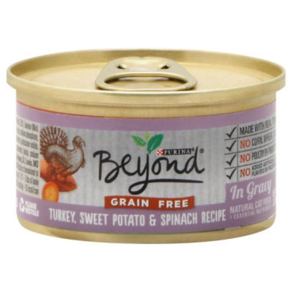 Purina Beyond Cat Wet Grain Free Turkey, Sweet Potato & Spinach Recipe in Gravy Cat Food