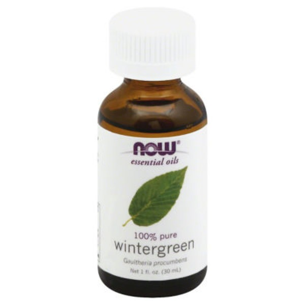 Now Essential Oils, 100% Pure, Wintergreen, Bottle