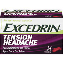 Excedrin Tension Headache Aspirin Free Pain Reliever Caplets