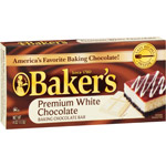 Kraft Baker's Premium White Chocolate Baking Chocolate Bar