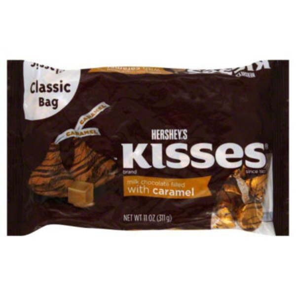 Kisses Milk Chocolates Filled with Caramel Candy