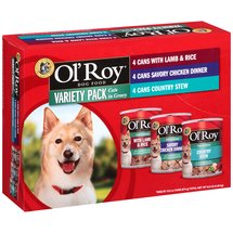 Ol' Roy Cuts in Gravy Wet Dog Food Variety Pack 13.2-Ounce (Pack of 12)