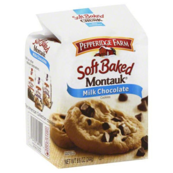 Pepperidge Farm Cookies Montauk Soft Baked Milk Chocolate Soft Cookies