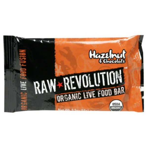 Raw Revolution Organic Live Food Bar Heavenly Hazelnut Chocolate
