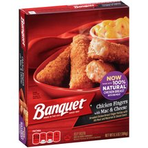 Banquet Chicken Fingers with Mac & Cheese Frozen Entree