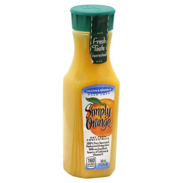Simply Beverages Calcium & Vitamin D Orange Juice