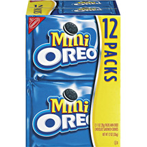 Nabisco Mini Oreo Chocolate Sandwich Cookies Munch Packs