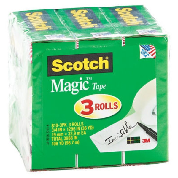 Scotch Magic Tape 3/4 X 1296