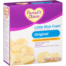 Parent's Choice Little Rice Cups Original Baked Rice Rusk Snacks
