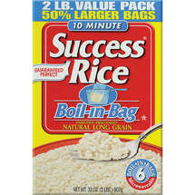 Success White Boil-In-Bag 6 ct Rice