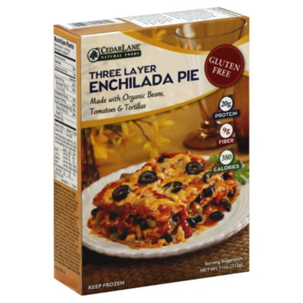Cedarlane Foods Triple Layer Gluten Free Enchilada Pie