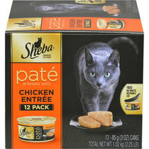 Sheba Pate in Natural Juices Chicken Entree Cat Food 12
