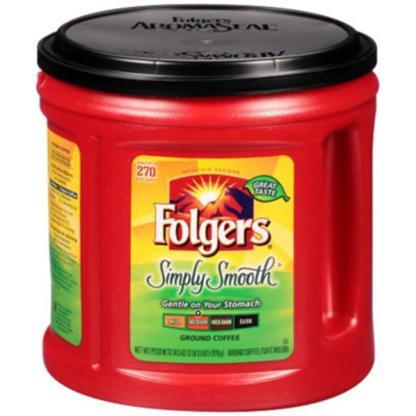 Folgers Simply Smooth Gentle On Your Stomach Medium Roast Ground Coffee