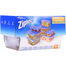 Ziploc Starter Set Containers Variety Pack