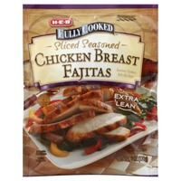 H-E-B Fully Cooked Sliced Seasoned Extra Lean Chicken Breasts Fajitas