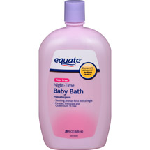 Equate Tear Free Night-Time Baby Bath