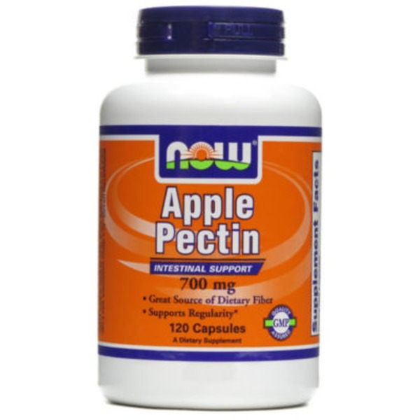 Now Apple Pectin 700 Mg Capsules